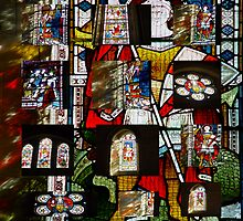 """Stained Glass collage"" by Merice  Ewart-Marshall - LFA"