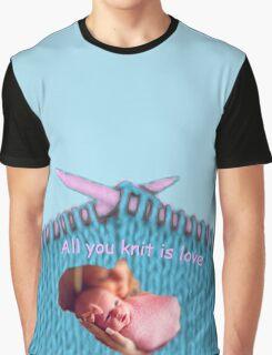 Knitting Love Graphic T-Shirt