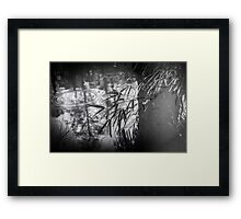 Ripples in the pond Framed Print