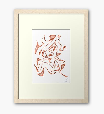 0204 - Movement out of the Earth Framed Print