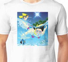 Diving girl Unisex T-Shirt