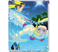 Diving girl iPad Case/Skin