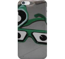 Glasses with eyes iPhone Case/Skin