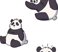 mini pandas by Clair C