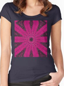 Starburst on Steroids - Hot Pink Women's Fitted Scoop T-Shirt