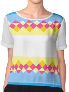Rhombus and stripes Chiffon Top