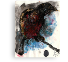 Bird on a Branch (Original Sketch for Bird on a Wire) Canvas Print