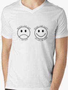 The Front Bottoms Shirt - When I am sad I am sad, when I am happy, oh God I'm happy Mens V-Neck T-Shirt