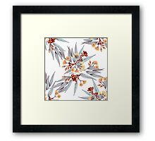 Gumnuts and Eucalyptus in Rust, Grey and Golden Framed Print