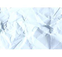 crumpled paper Photographic Print