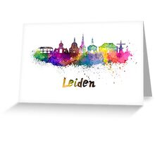 Leiden skyline in watercolor Greeting Card