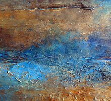 "Abstract Print of Zen Wall Art Seascape Painting by Holly Anderson Artist ""COVE"" by hollyanderson"