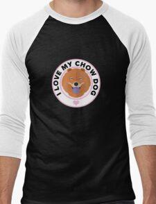 Love My Chow Dog Men's Baseball ¾ T-Shirt