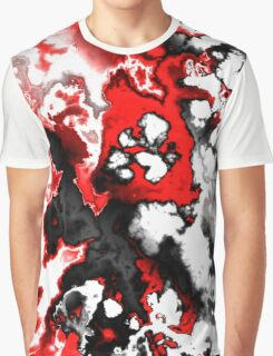 black, red, white and gray abstract Graphic T-Shirt