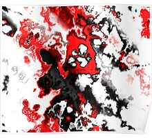 black, red, white and gray abstract Poster