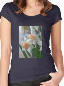 Delicate Daffodils  Women's Fitted Scoop T-Shirt