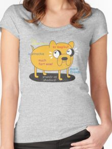 SO ADVINCHURE....MUCH FREND...WOW!! Women's Fitted Scoop T-Shirt