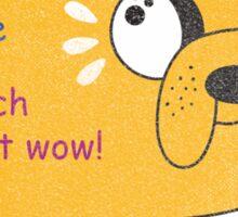 SO ADVINCHURE....MUCH FREND...WOW!! Sticker