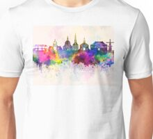Leiden skyline in watercolor background Unisex T-Shirt