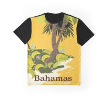 Take a Vacation Bahamas vintage travel poster Graphic T-Shirt