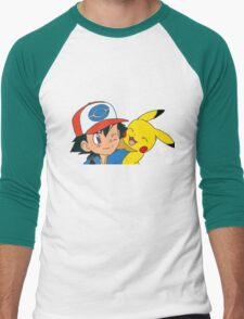Ash and Pikachu Men's Baseball ¾ T-Shirt
