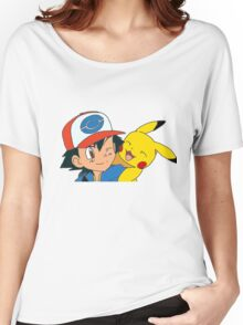 Ash and Pikachu Women's Relaxed Fit T-Shirt
