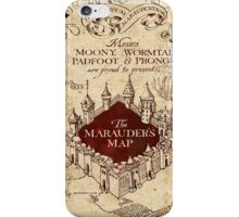 the marauders map full screen TB iPhone Case/Skin