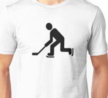 Hockey Player symbol Unisex T-Shirt