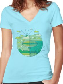 As Above, So Below (Spring Edition) Women's Fitted V-Neck T-Shirt
