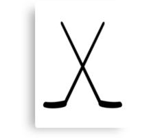 Crossed hockey sticks Canvas Print