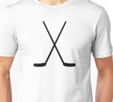 Crossed hockey sticks Unisex T-Shirt