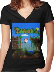 Terraria Women's Fitted V-Neck T-Shirt
