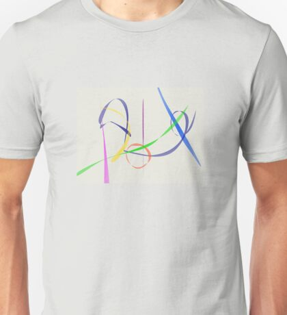 Colorful Abstract Lines Unisex T-Shirt