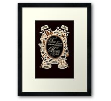 OUAT quotes. Once Upon A Time. V2. Framed Print