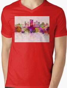 Phoenix skyline in watercolor background Mens V-Neck T-Shirt