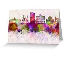Phoenix skyline in watercolor background Greeting Card