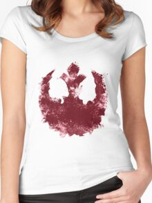 Rebel Alliance splatter  Women's Fitted Scoop T-Shirt