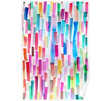 Candy colored brushstrokes Poster