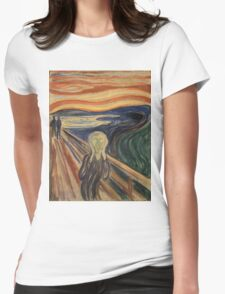 The Scream - Munch Womens Fitted T-Shirt