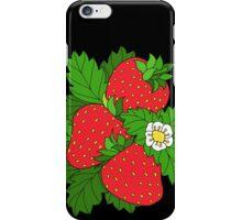 Ripe juicy strawberries iPhone Case/Skin