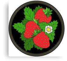 Ripe juicy strawberries Canvas Print