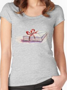 old letters... Women's Fitted Scoop T-Shirt