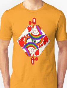 Love and Rainbows, Queen of Hearts Unisex T-Shirt