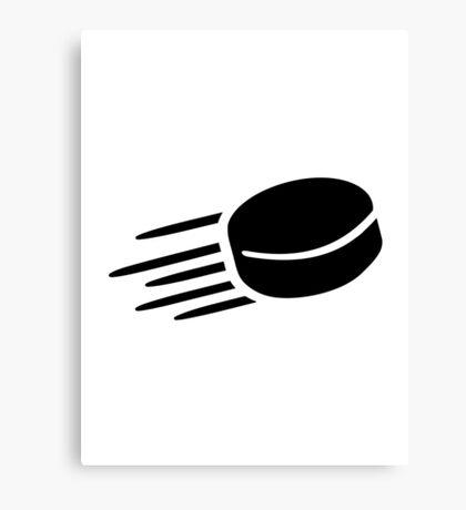 Hockey puck Canvas Print