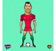Ronaldo (SuperEuros) Photographic Print