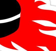 Hockey puck fire Sticker