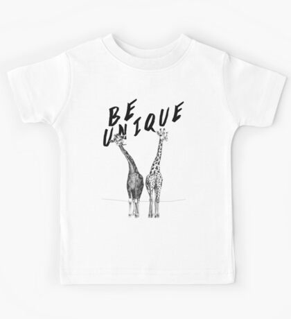Be Unique, Giraffes Kids Tee