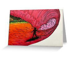 Surfing on Mars Greeting Card