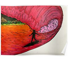 Surfing on Mars Poster