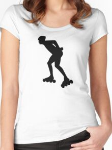Inline skating skater Women's Fitted Scoop T-Shirt